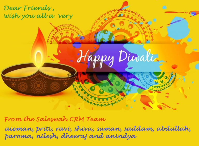 Happy Diwali from Saleswah CRM Team