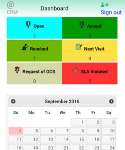 Calendar for visit planning