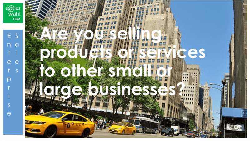 enterprise sales management CRM